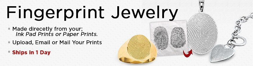 Thumbprint and Fingerprint Jewelry