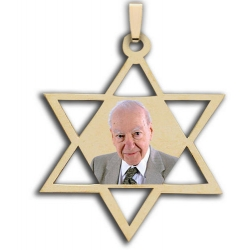 Star Of David  Jewish Hebrew  Photo Pendant or Charm