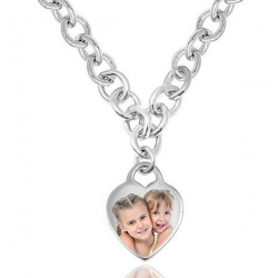 Sterling Silver Tiffany Style Heart Toggle Necklace
