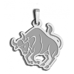 Taurus Symbol Outline Charm or Pendant
