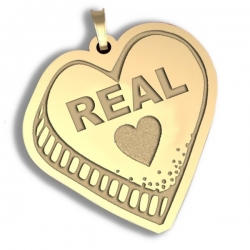 Real Love   Candy Heart Pendant or Charm