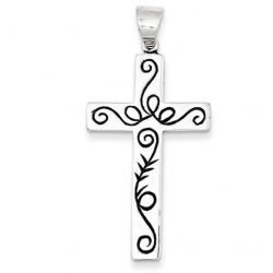 Sterling Silver Latin Cross Pendant