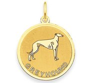 Greyhound Disc Charm or Pendant