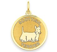 Scottish Terrier Disc Charm or Pendant