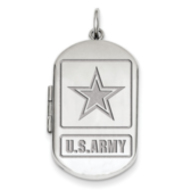 Sterling Silver Army Dogtag Locket