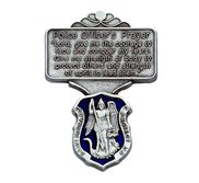 Saint Michael   Police Officer s Prayer   Religious Metal Visor Clip