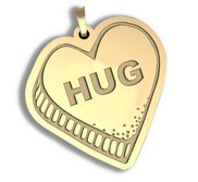 Hug   Candy Heart Pendant or Charm