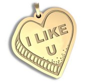 I Like U  Candy Heart Pendant or Charm
