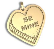 Be Mine   Candy Heart Pendant or Charm