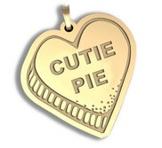 Cutie Pie   Candy Heart Pendant or Charm