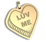 Luv Me   Candy Heart Pendant or Charm