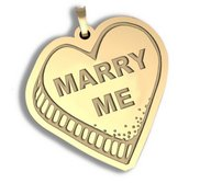 Marry Me   Candy Heart Pendant or Charm