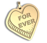 Forever   Candy Heart Pendant or Charm