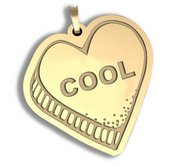 Cool   Candy Heart Pendant or Charm