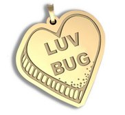 Luv Bug   Candy Heart Pendant or Charm