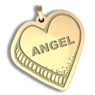 Angel   Candy Heart Pendant or Charm