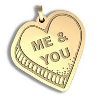 Me and You   Candy Heart Pendant or Charm