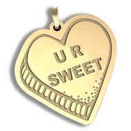 You Are Sweet   Candy Heart Pendant or Charm
