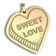 Sweet Love   Candy Heart Pendant or Charm