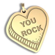 You Rock   Candy Heart Pendant or Charm