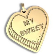 My Sweet   Candy Heart Pendant or Charm