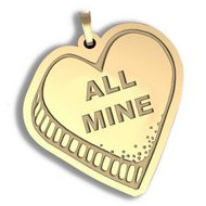 All Mine   Candy Heart Pendant or Charm