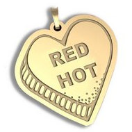 Red Hot   Candy Heart Pendant or Charm
