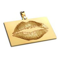 Lip Print Sideways Rectangle Custom Medal