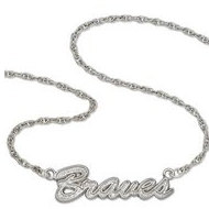 Atlanta Braves Name Plate Necklace W  Chain