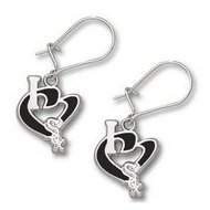 Chicago White Sox 1 2 Inch Earrings
