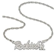 Colorado Rockies Name Plate Necklace W  Chain