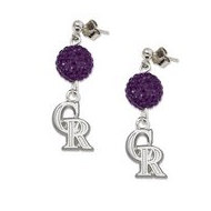 Colorado Rockies 1 2 Inch Earrings