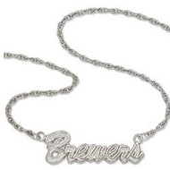 Milwaukee Brewers Name Plate Necklace W  Chain