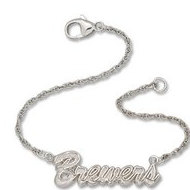 Milwaukee Brewers Charm Logo W  Bracelet