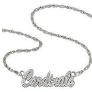 St Louis Cardinals Name Plate Necklace W  Chain