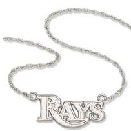 Tampa Bay Rays Name Plate Necklace W  Chain