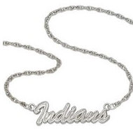Cleveland Indians Name Plate Necklace W  Chain