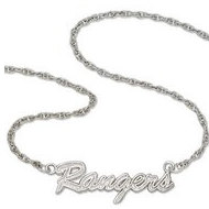 New York Rangers Name Plate Necklace W  Chain