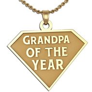 Grandpa of the Year Charm