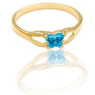 Bfly Blue Topaz  December  Birthstone Ring