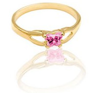 Bfly Pink Tourmaline  October  Birthstone Ring