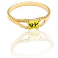 Bfly Citrine  November  Birthstone Ring