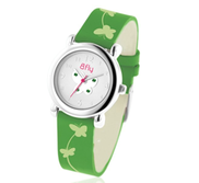 Bfly Emerald  May  Adjustable Children s Birthstone Watch