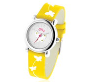 Bfly Citrine  Novemeber  Adjustable Children s Birthstone Watch
