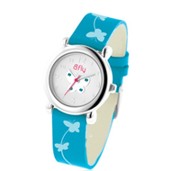 Bfly Blue Topaz  December  Adjustable Children s Birthstone Watch