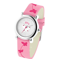 Bfly Pink Tourmaline  October  Adjustable Children s Birthstone Watch