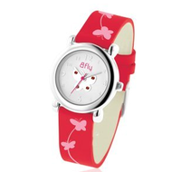 Bfly Garnet  Janurary  Adjustable Children s Birthstone Watch