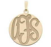 Monogram Pendant or Charm Deeply Etched