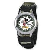 Mickey Mouse 6 3  Nylon Band with Velcro Closure