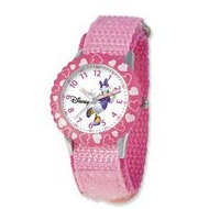 Daisy Duck 7  Nylon Band with Velcro Closure